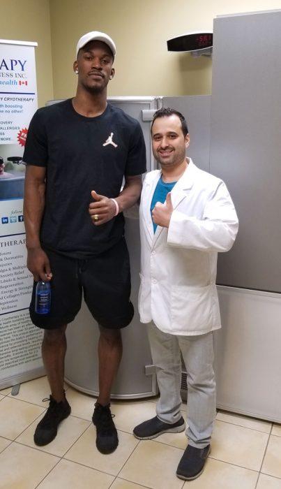 Cryotherapy Toronto Jimmy Butler NBA